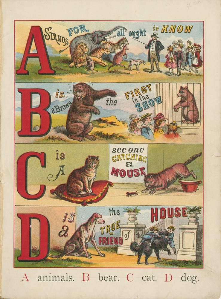 vintage stock graphics childrens book The ABC of Animals viintage 0035